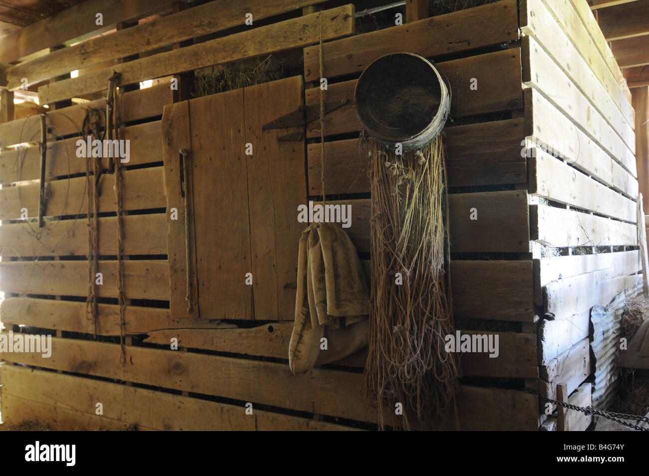 Wooden crib for sale in cebu - 1800s Corn Crib In Wooden Barn Illinois Inside Us Stock Image