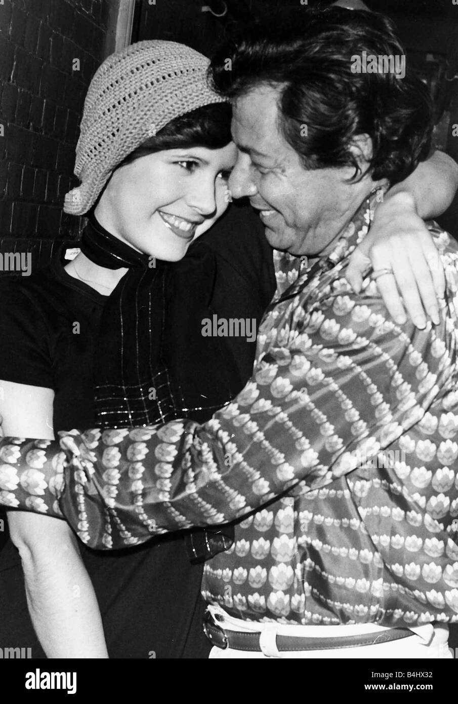 Carrie Fisher And Father Eddie Fisher 1974 Stock Photo, Royalty Free ...