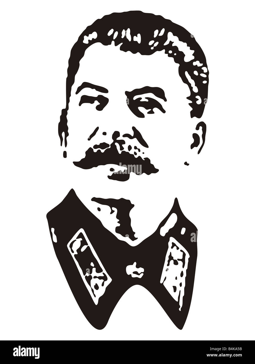 portrait of joseph stalin in black and white stencil style stock  portrait of joseph stalin in black and white stencil style