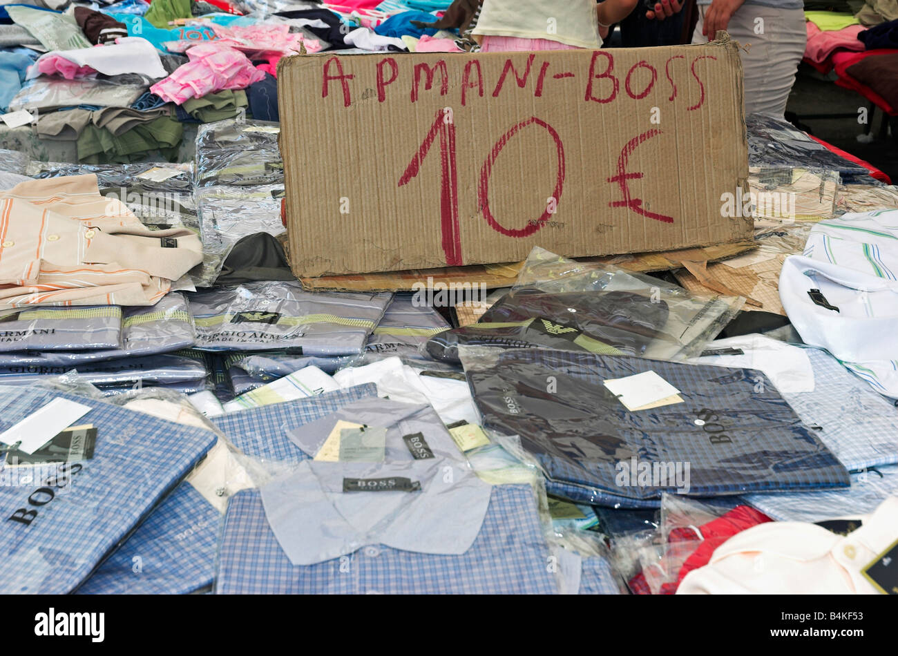 Fake Designer Polo Shirts For Sale In A Market In