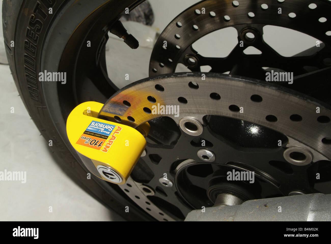 how to break a motorcycle disc lock