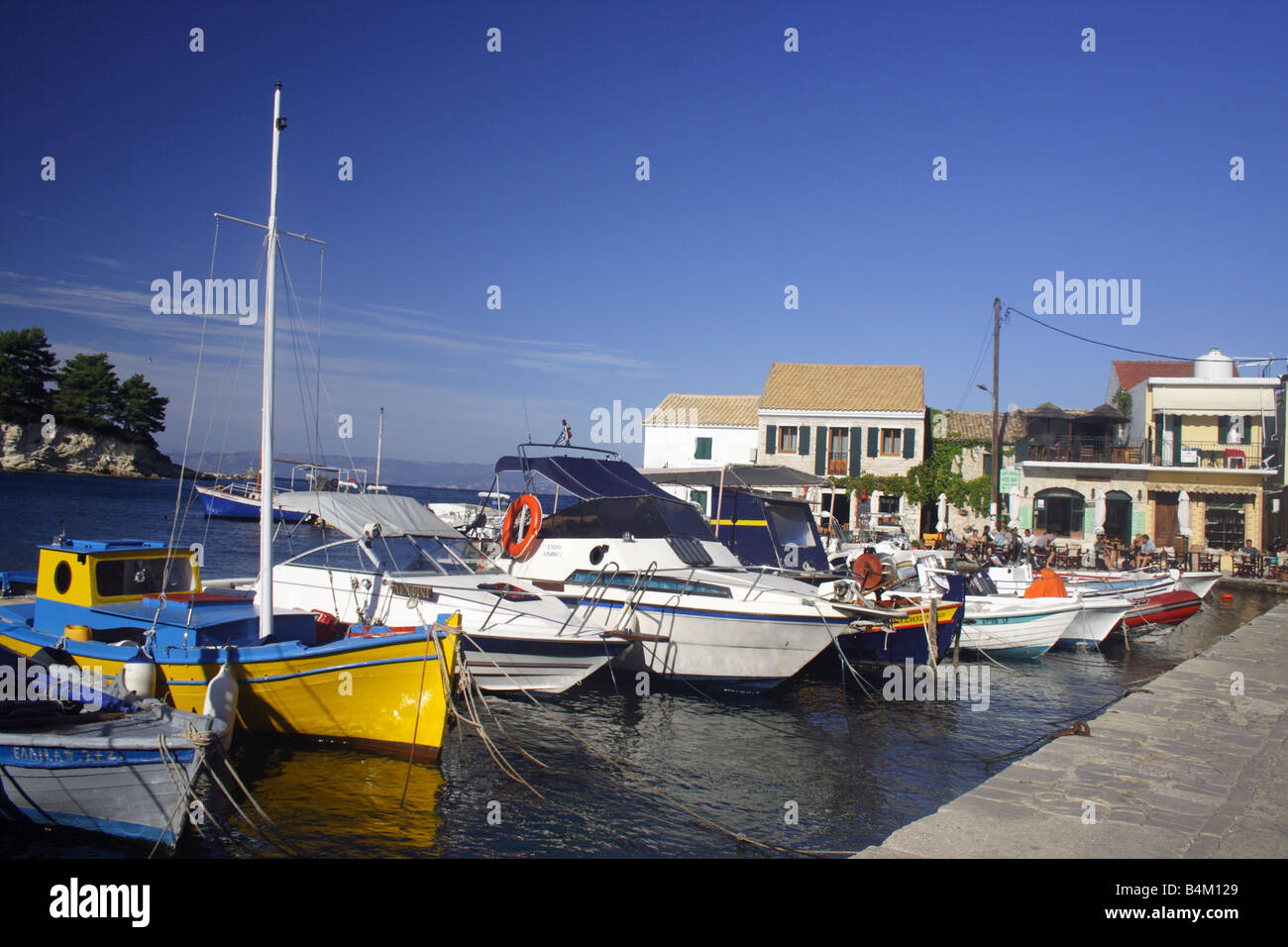 View of harbour in the small fishing village of loggos on for East coast fishing
