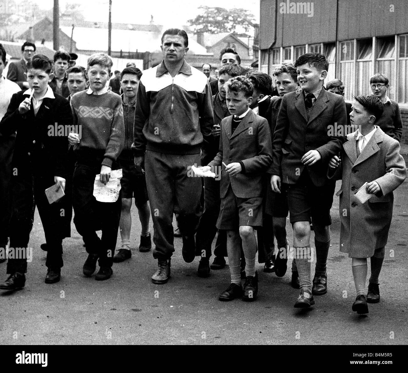 Ferenc Puskas Real Madrid 19th May 1960 Kilmarnock schoolchildren