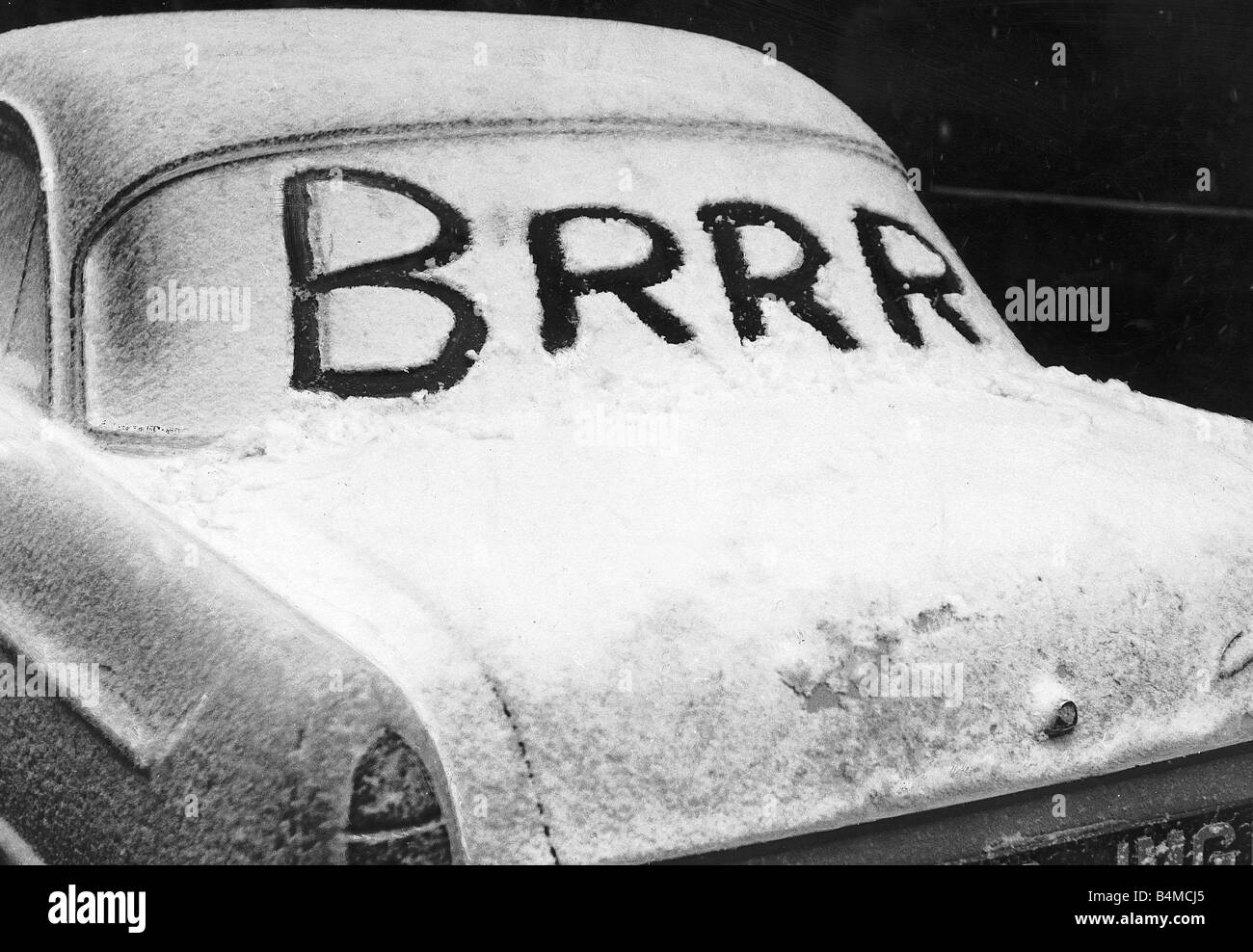Not available for greetings cards snow message reflecting cold not available for greetings cards snow message reflecting cold weather in the back window of a car during the winter of 1958 kristyandbryce Gallery