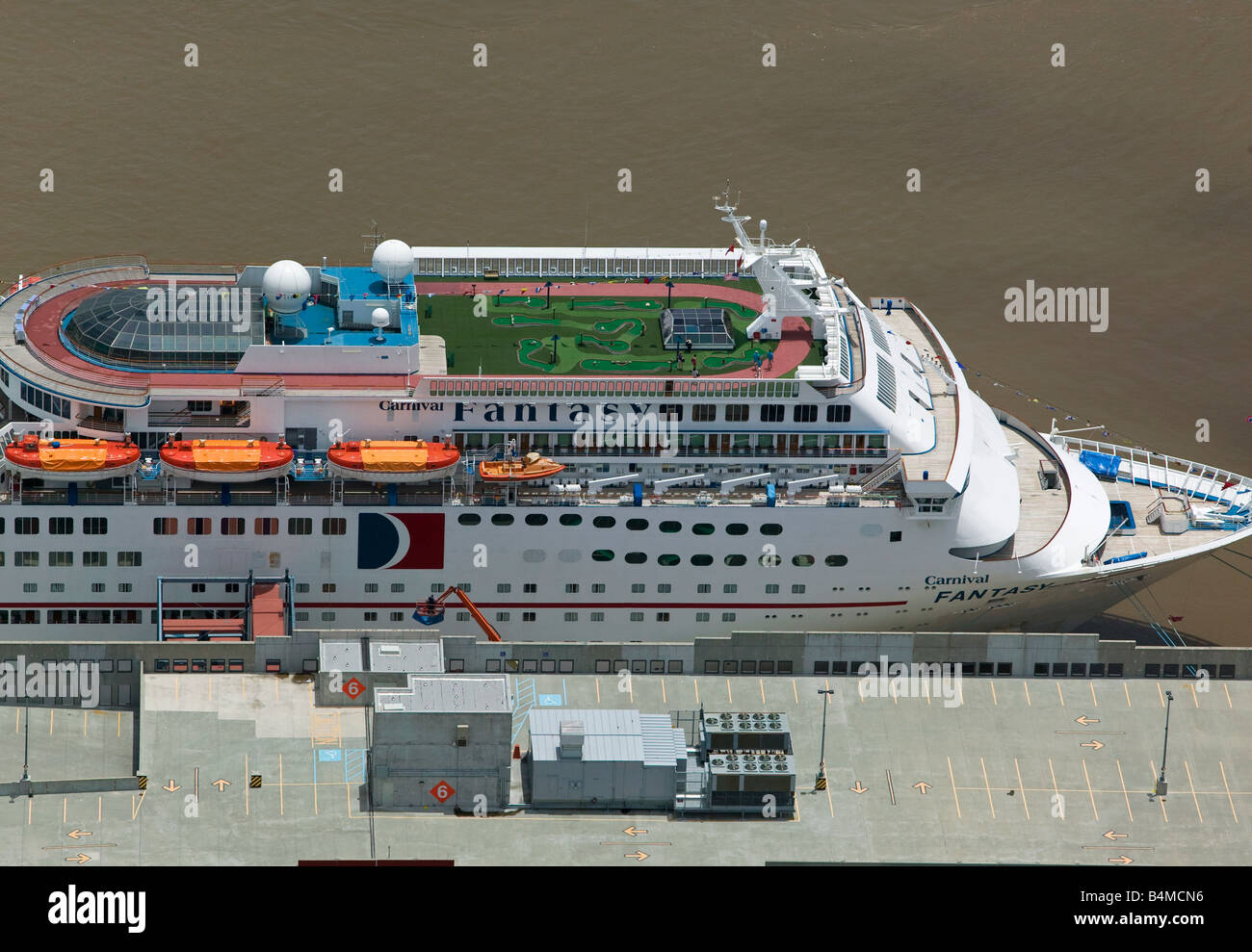 Aerial View Above Carnival Cruise Lines Ship Fantasy Stock Photo - Cruise ships new orleans