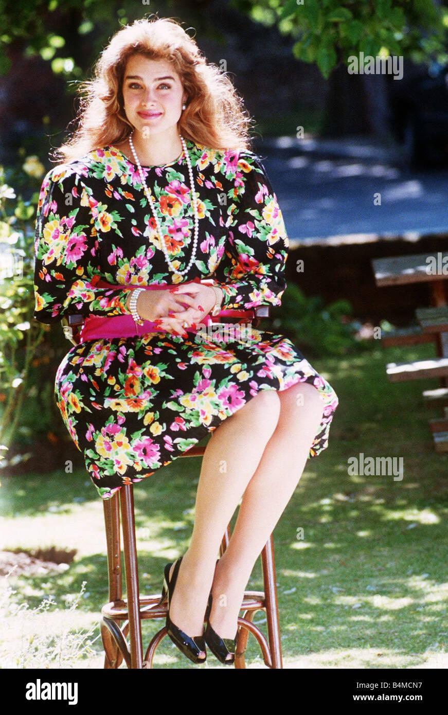 Brooke Shields Actress In June 1988 Mirrorpix Stock Photo