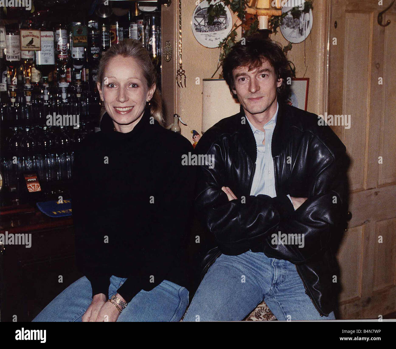 Nigel Havers Actor With Polly Bloomfield January 1989
