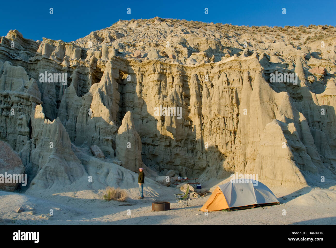 Sandstone Cliffs At Campground In Red Rock Canyon State Park Near - El paso california