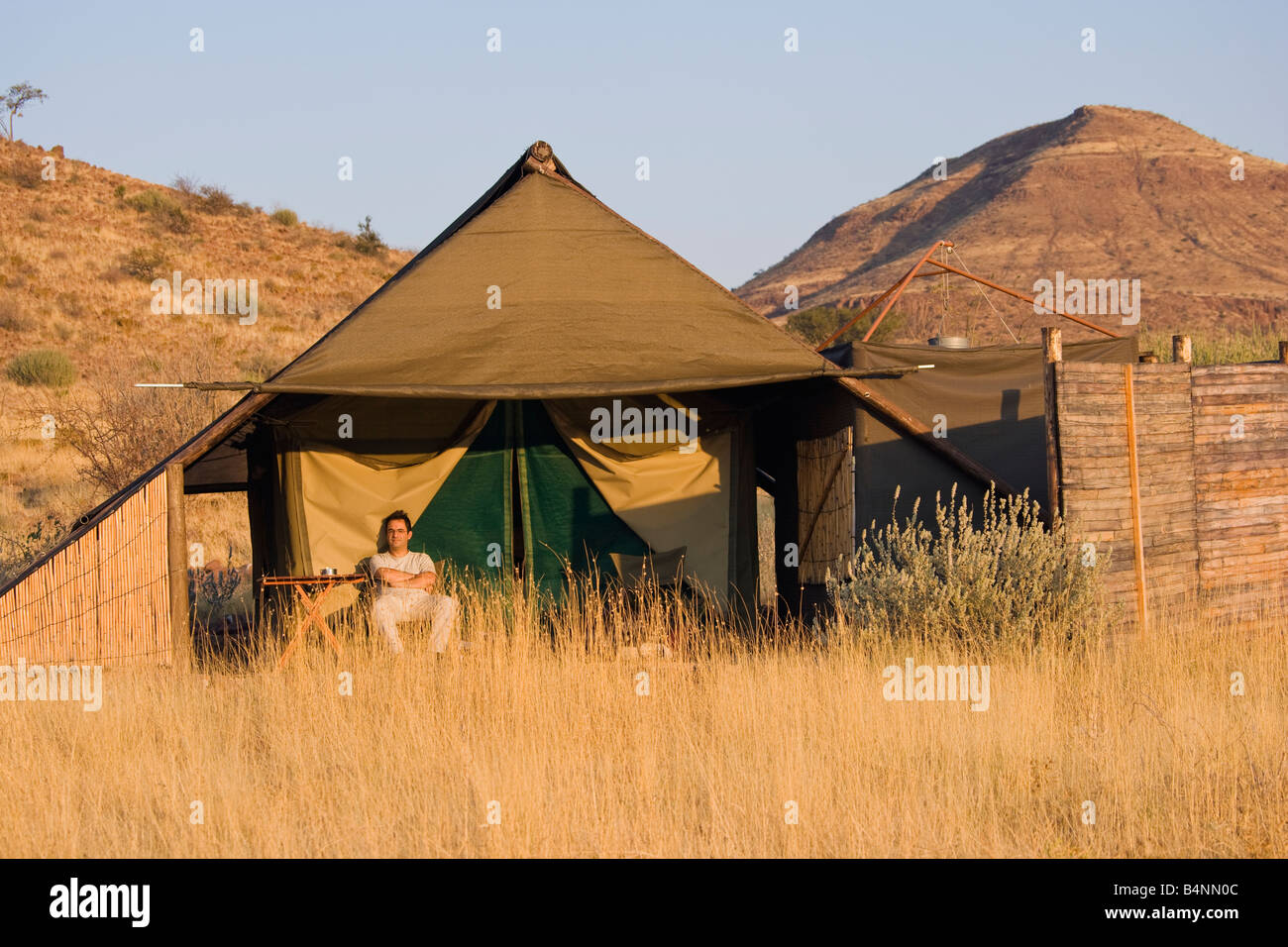 safari damara land Namibia Africa desert tent c& & safari damara land Namibia Africa desert tent camp Stock Photo ...