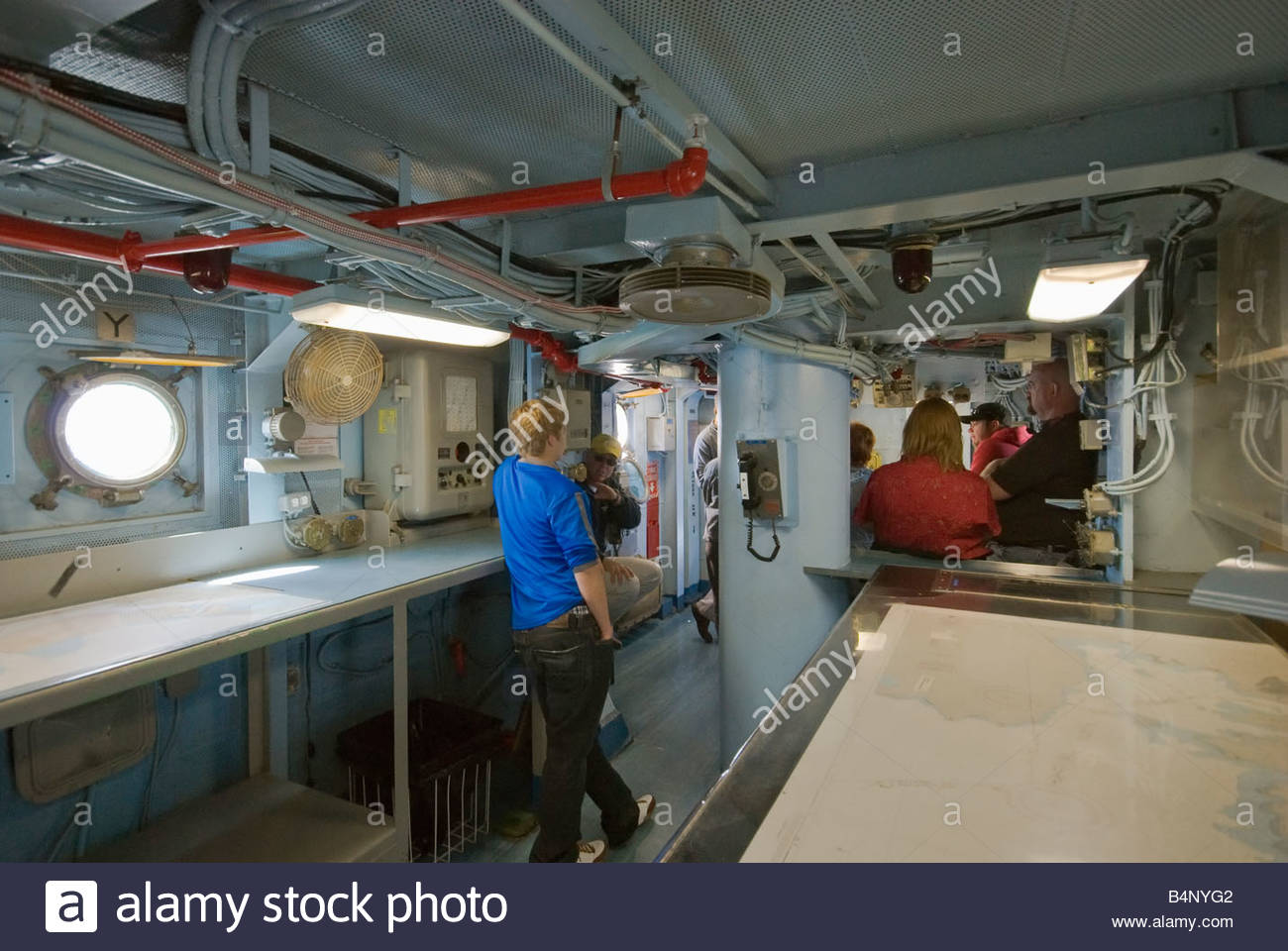 bridge interior at uss midway aircraft carrier museum ship in san stock photo royalty free