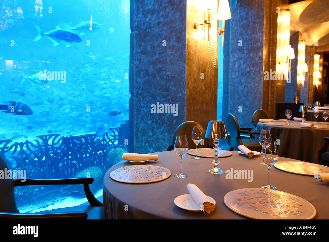 Underwater Restaurant Atlantis Atlantis Hotel, The Pa...