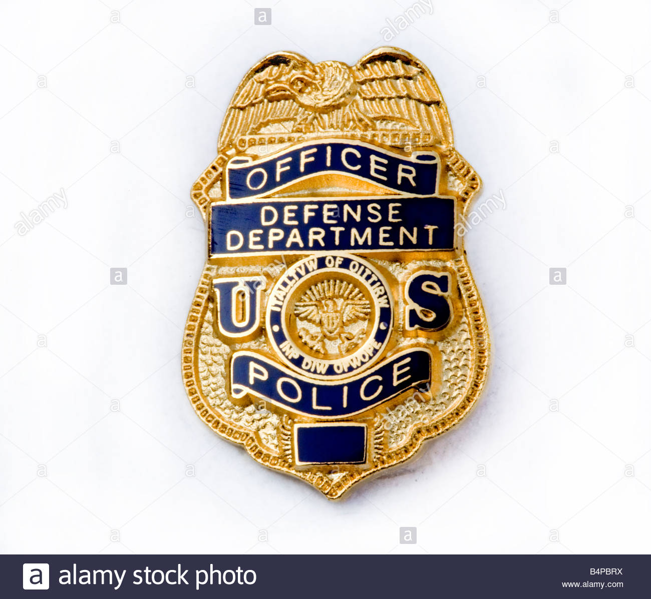 us defence department police badge stock photo royalty free image