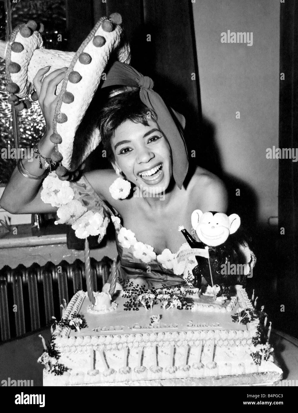Celebrating 19th Anniversary Logo Confetti Balloons Red: Cardiff Born Singer Shirley Bassey Is Pictured Celebrating