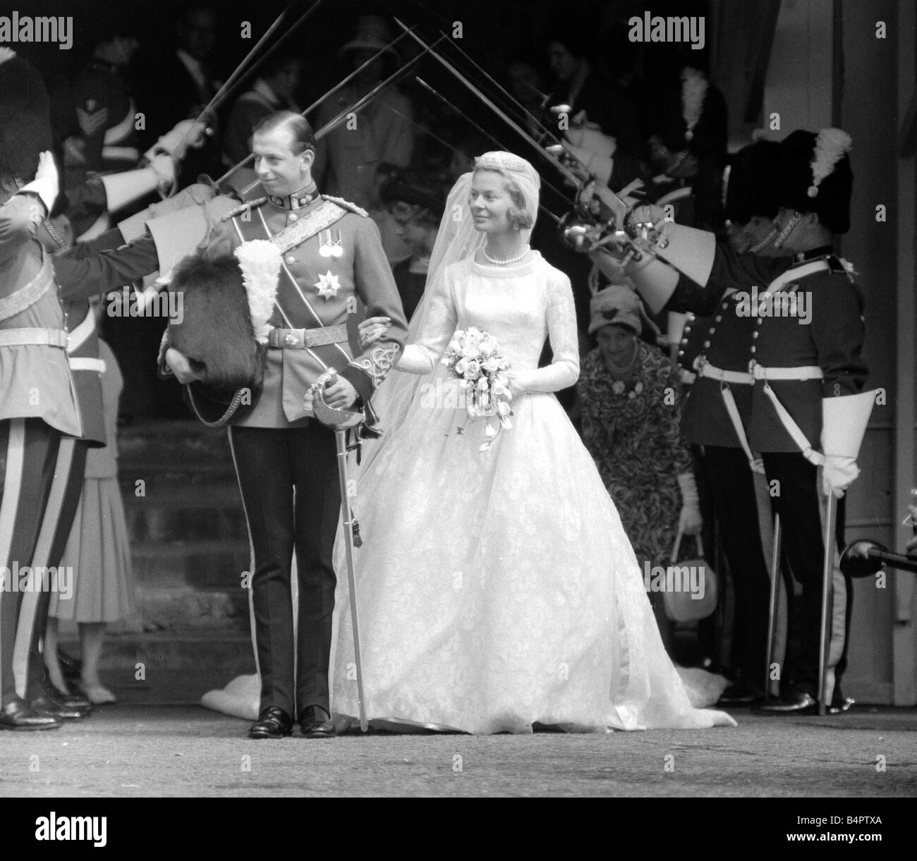 The Wedding Of The Duke And Duchess Of Kent June 1961 The Duke Of Stock Photo Royalty Free