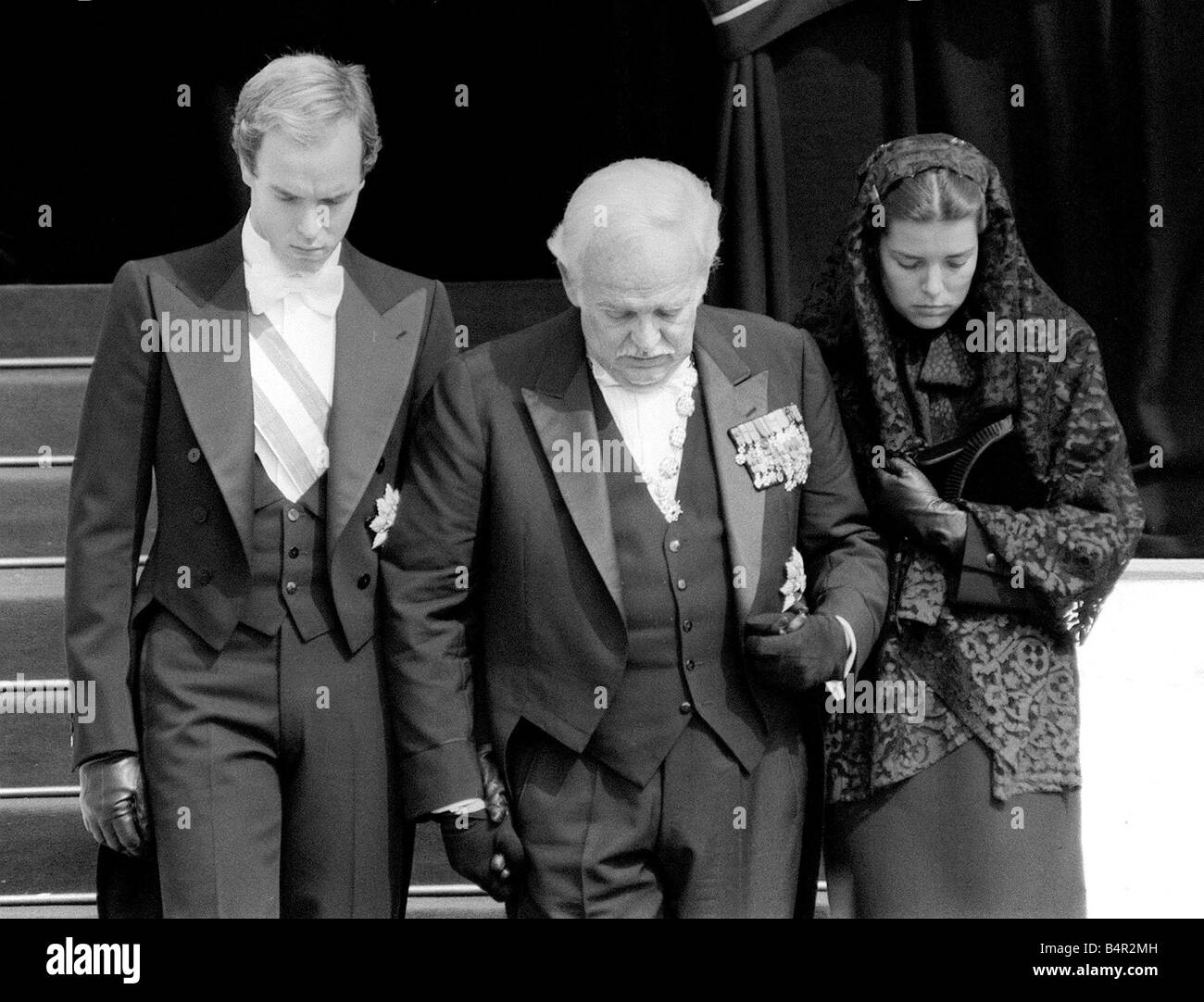 princess grace of monaco funeral september 1982 princess grace stock photo royalty free image. Black Bedroom Furniture Sets. Home Design Ideas