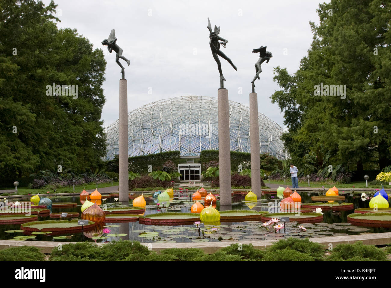 St Louis Missouri Missouri Botanical Garden Sculpture Carl Stock Photo Royalty Free Image