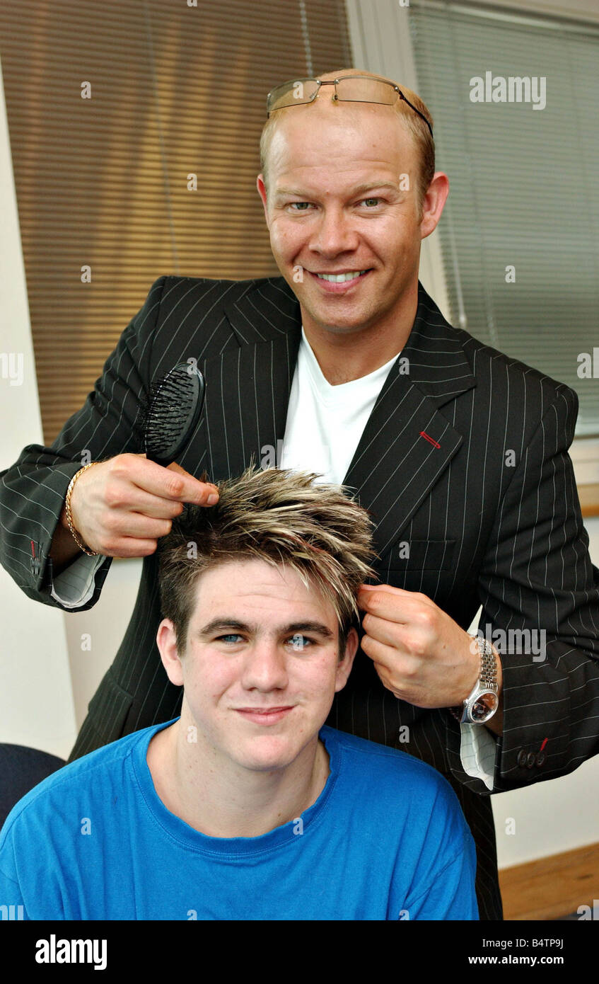 Hair extensions for men feature july 2005 hair extensions for men july 2005 hair extensions for men pictured is celebrity hair stylist martin malloy doing hair extensions on actor martin bristow before during and after pmusecretfo Gallery