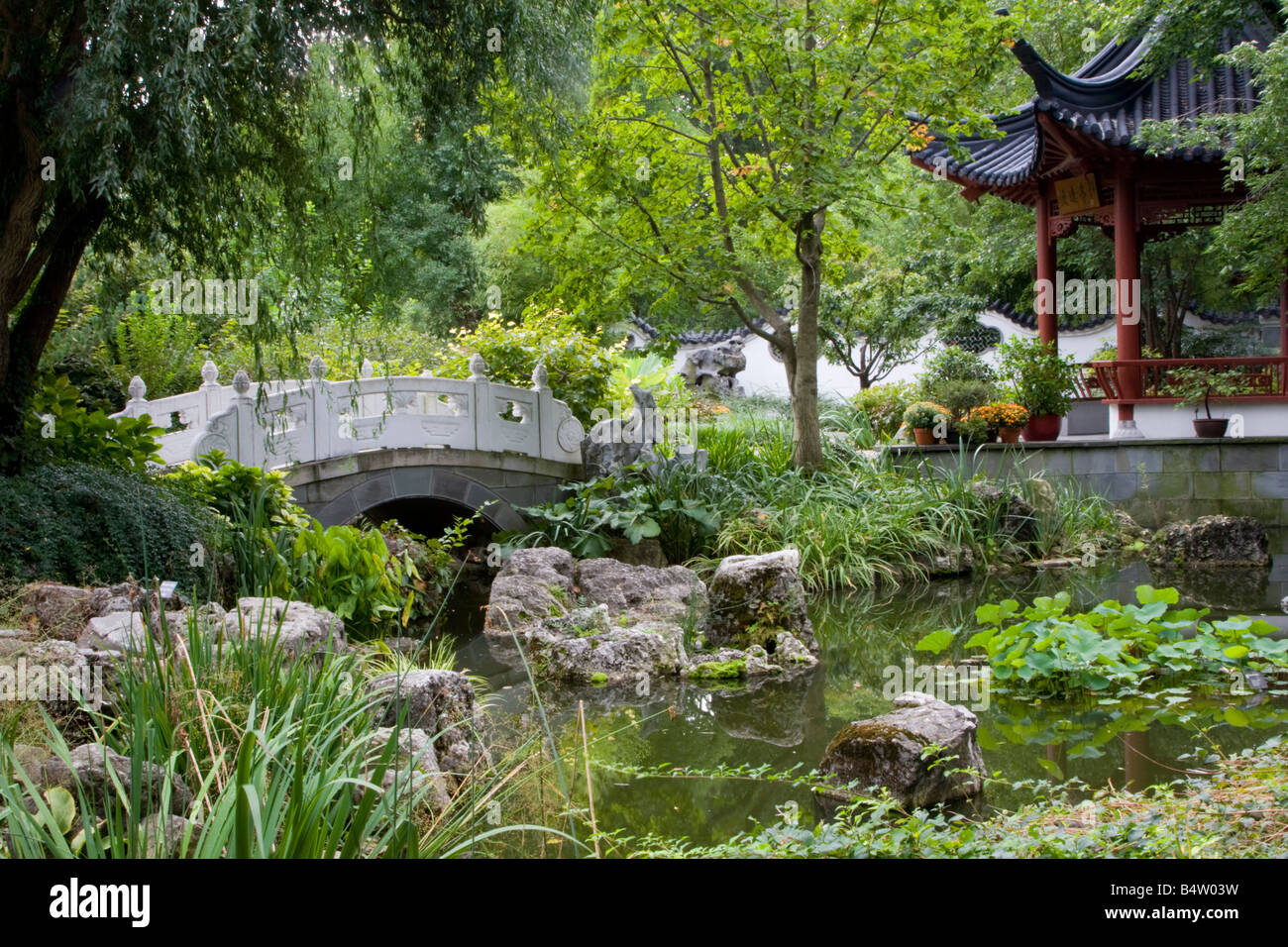 St Louis Missouri Chinese Garden Missouri Botanical Garden Stock Photo 20217901 Alamy