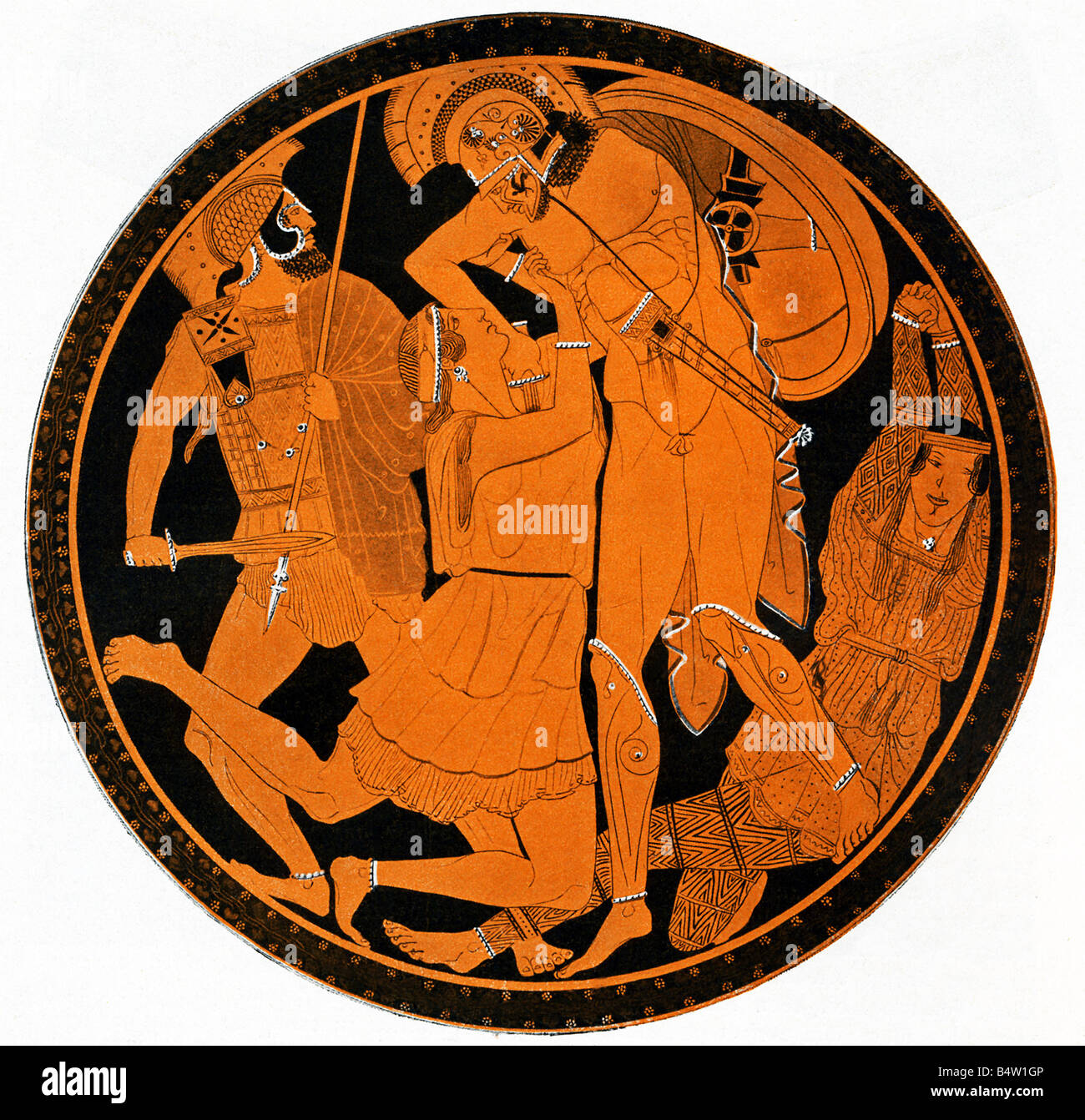 Penthesilea And Achilles Stock Photo, Royalty Free Image