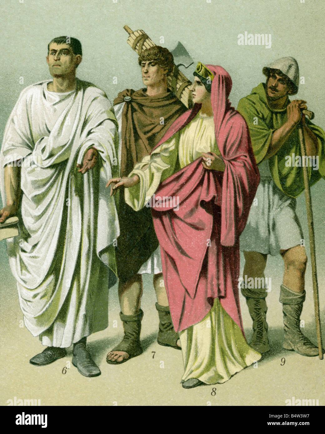 fashion ancient world roman empire citizen with toga lictor