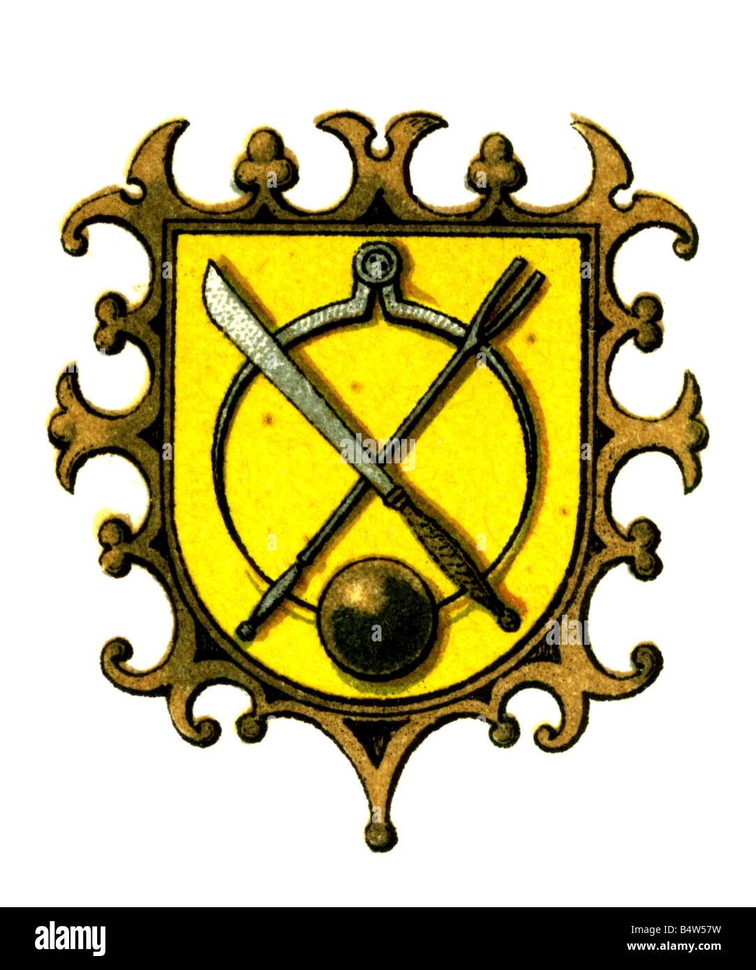 heraldry emblems guilds guild emblems trade guild