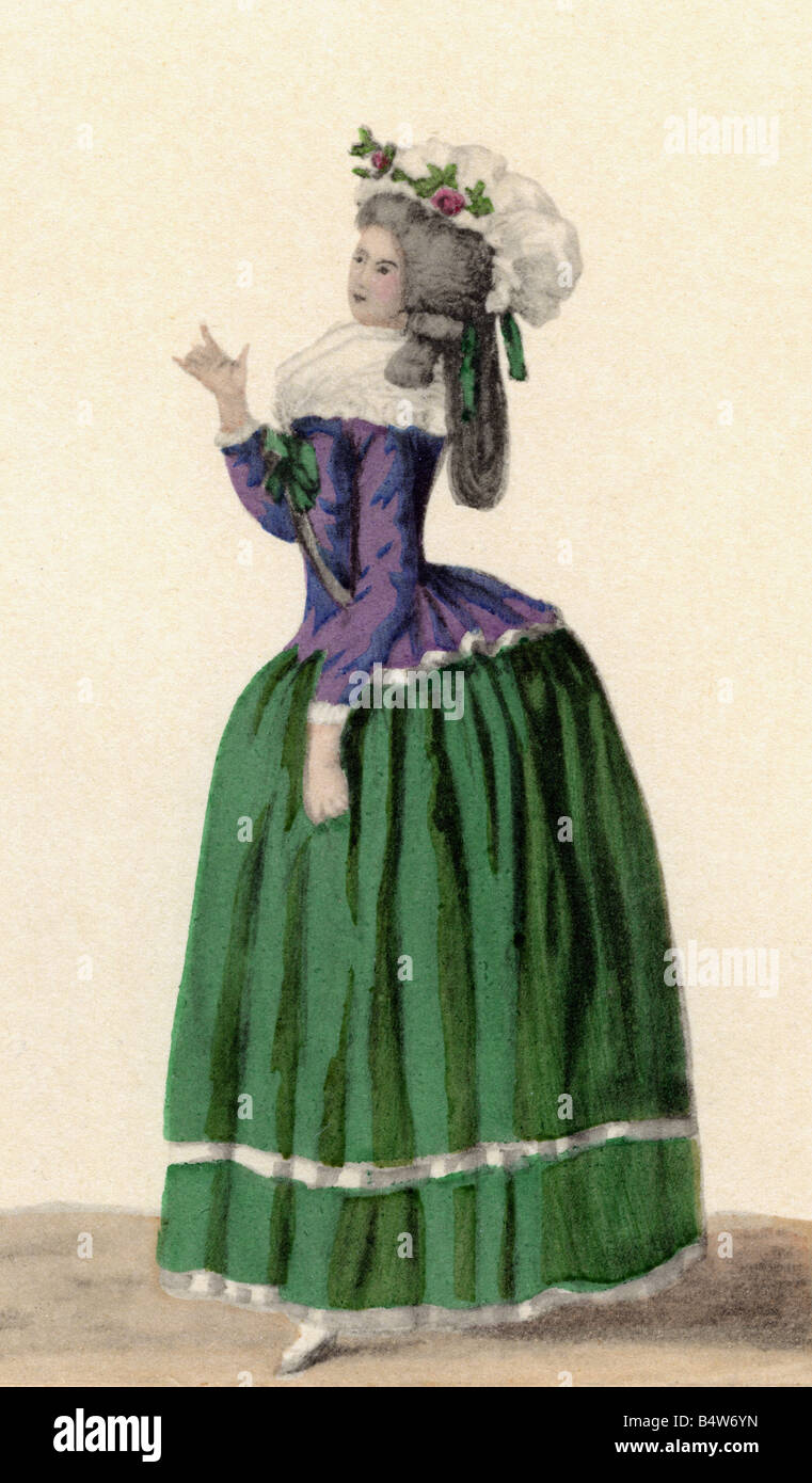 fashion 18th century ladys fashion magasins de mode stock photo fashion 18th century ladys fashion magasins de mode 1785 engraving rococo ancien regime people women histor