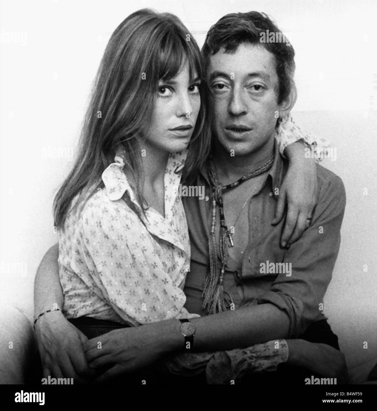 Serge Gainsbourg French composer musician 1969 and wife ...