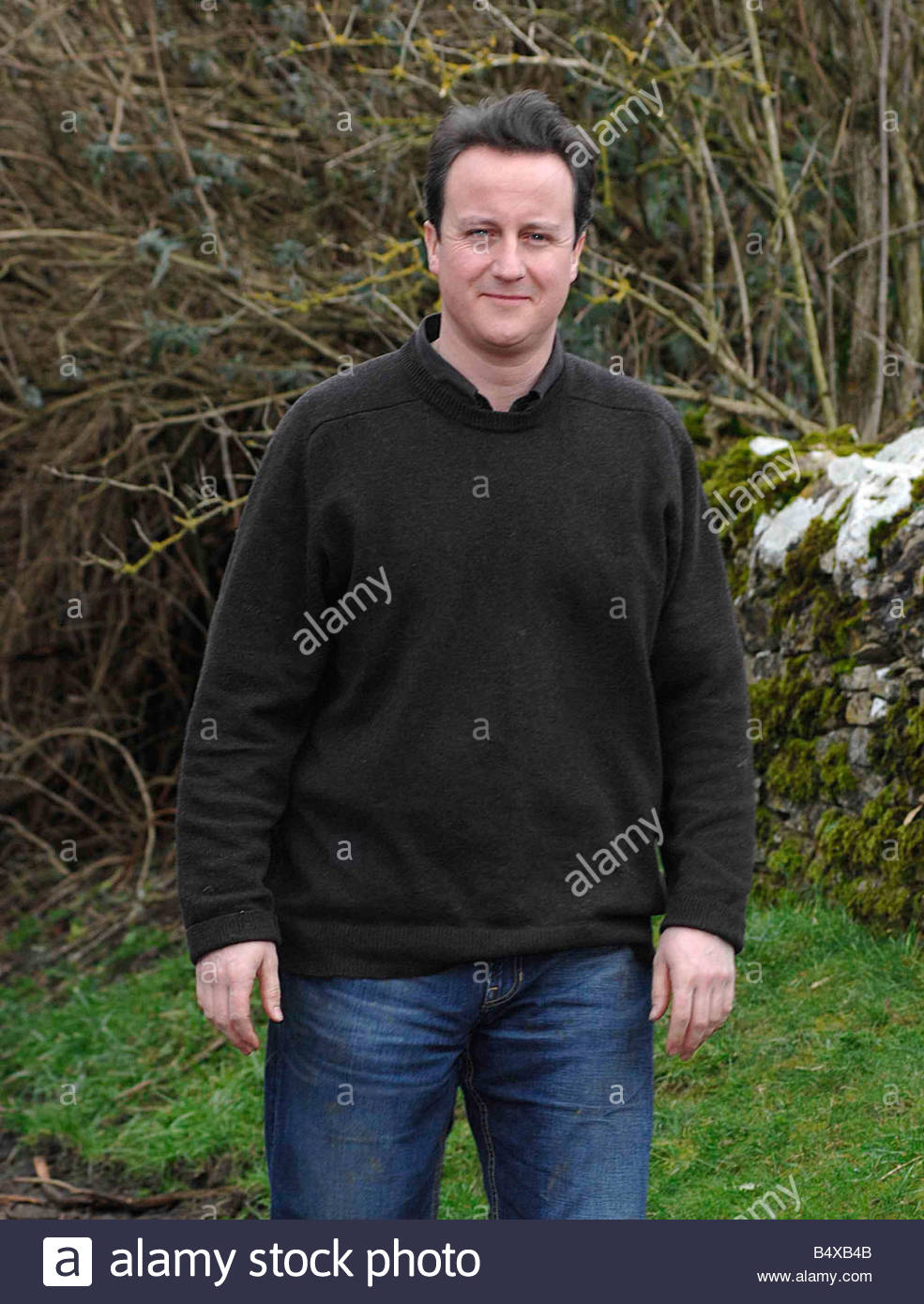 David Cameron Outside His Constituency Home In Dean