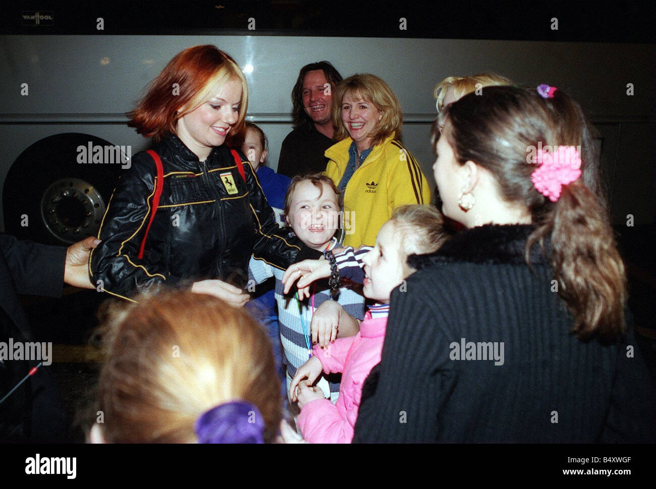 Geri Halliwell Of The Spice Girls In Glasgow April 1998 On Her Way To Stock Photo Royalty Free