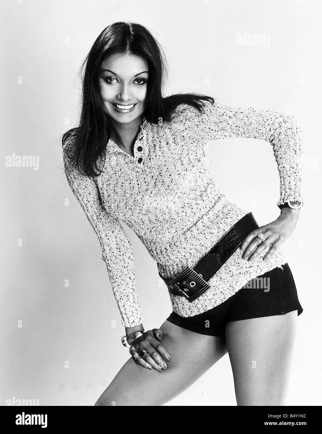 shakira caine model wife of michael caine stock photo