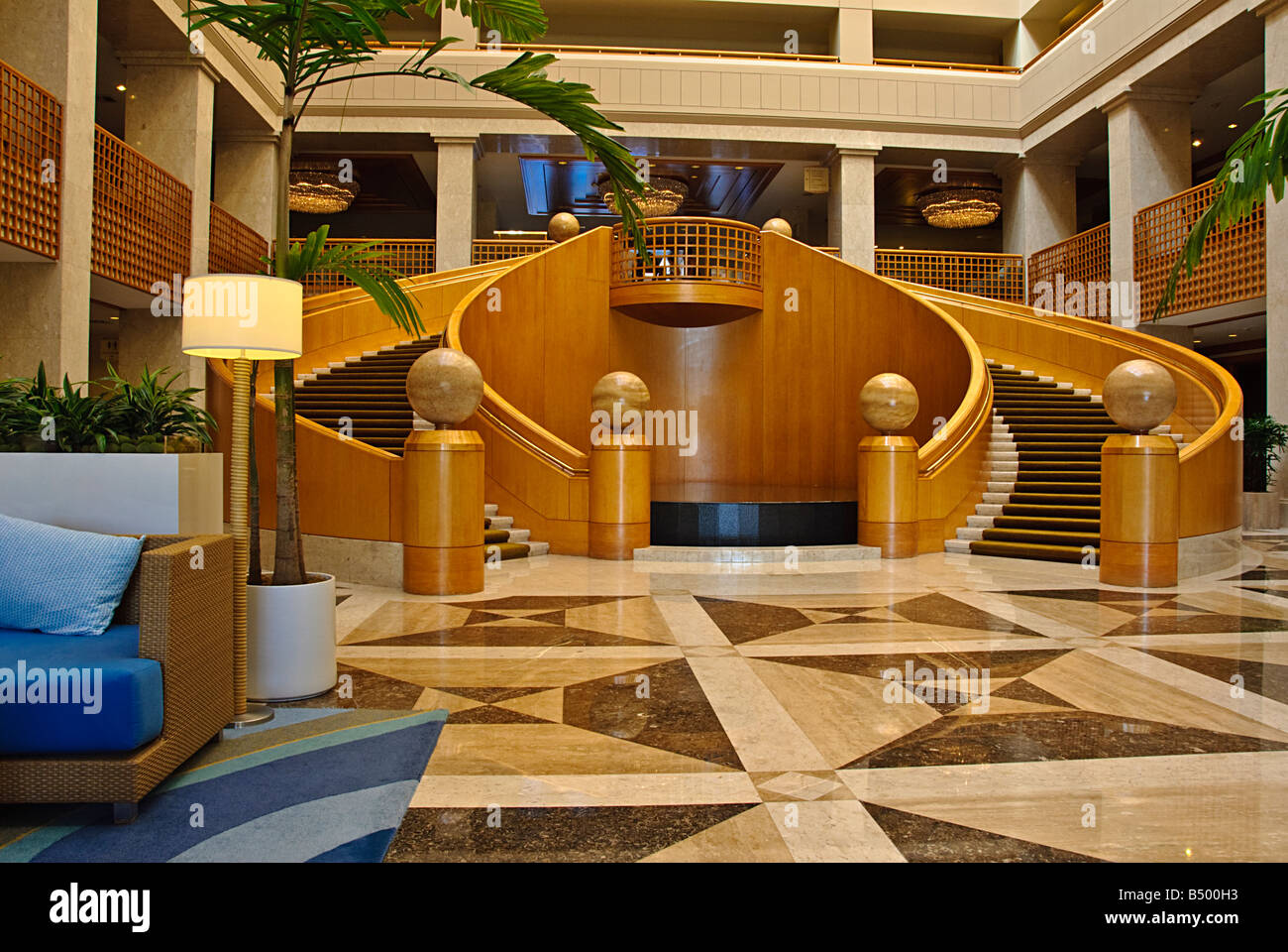 lobby atrium renaissance esmeralda resort indian wells ca