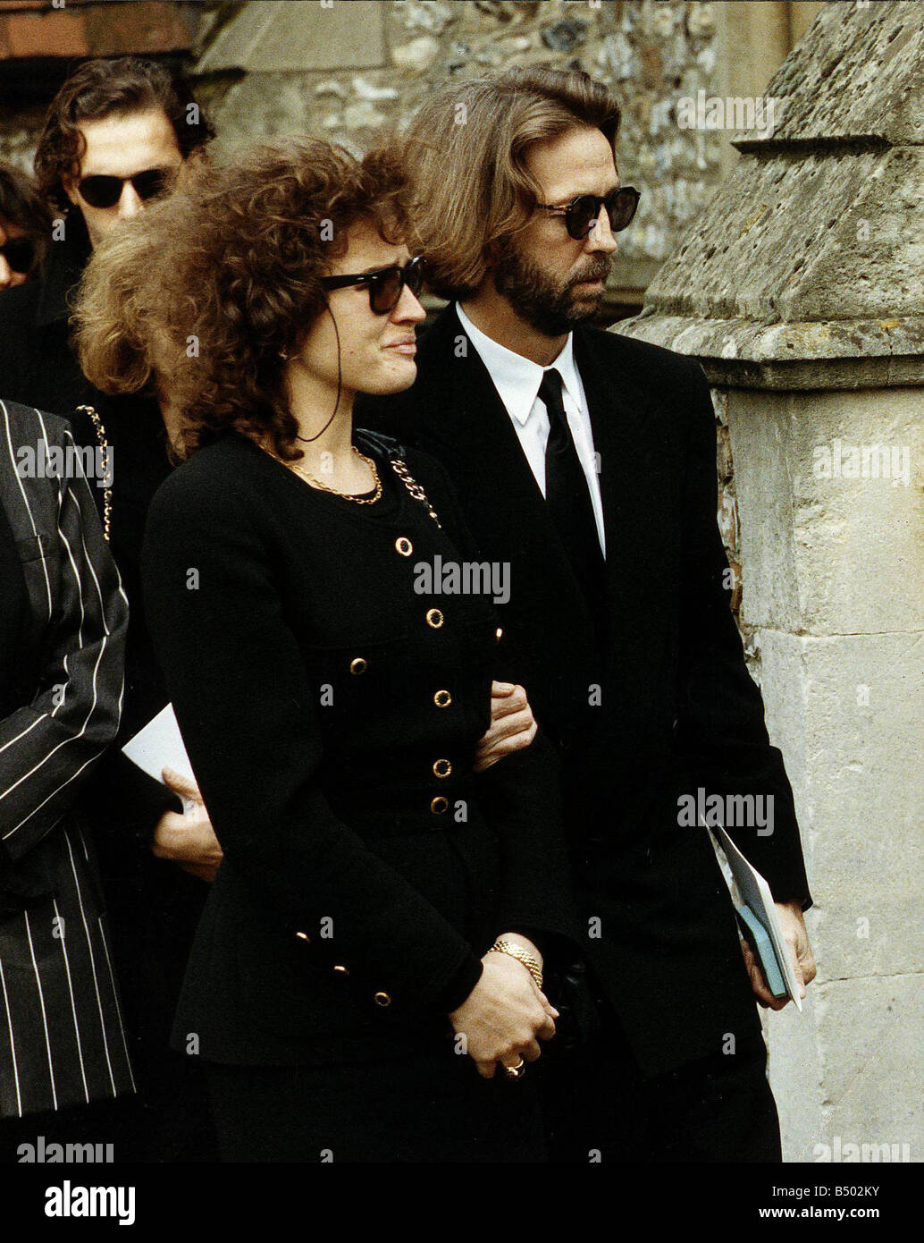 Eric Clapton and Wife Lori attend Funeral of their son ...