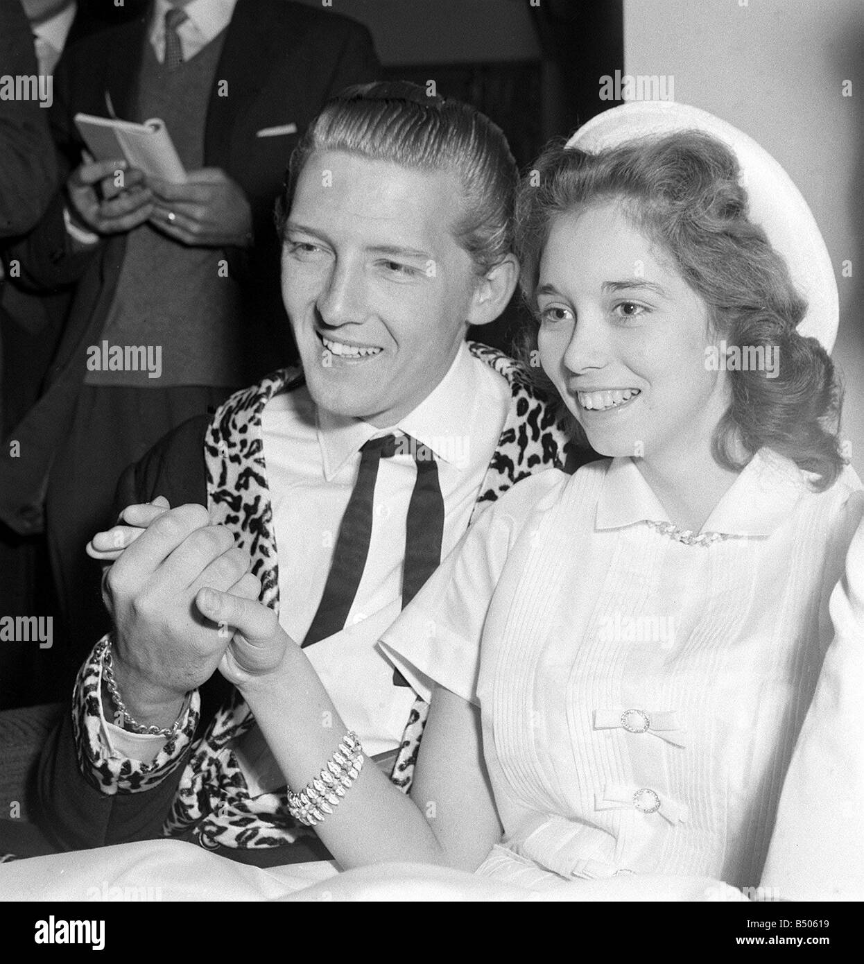 jerry lee lewis rock and roll singer may 1958 with his 13