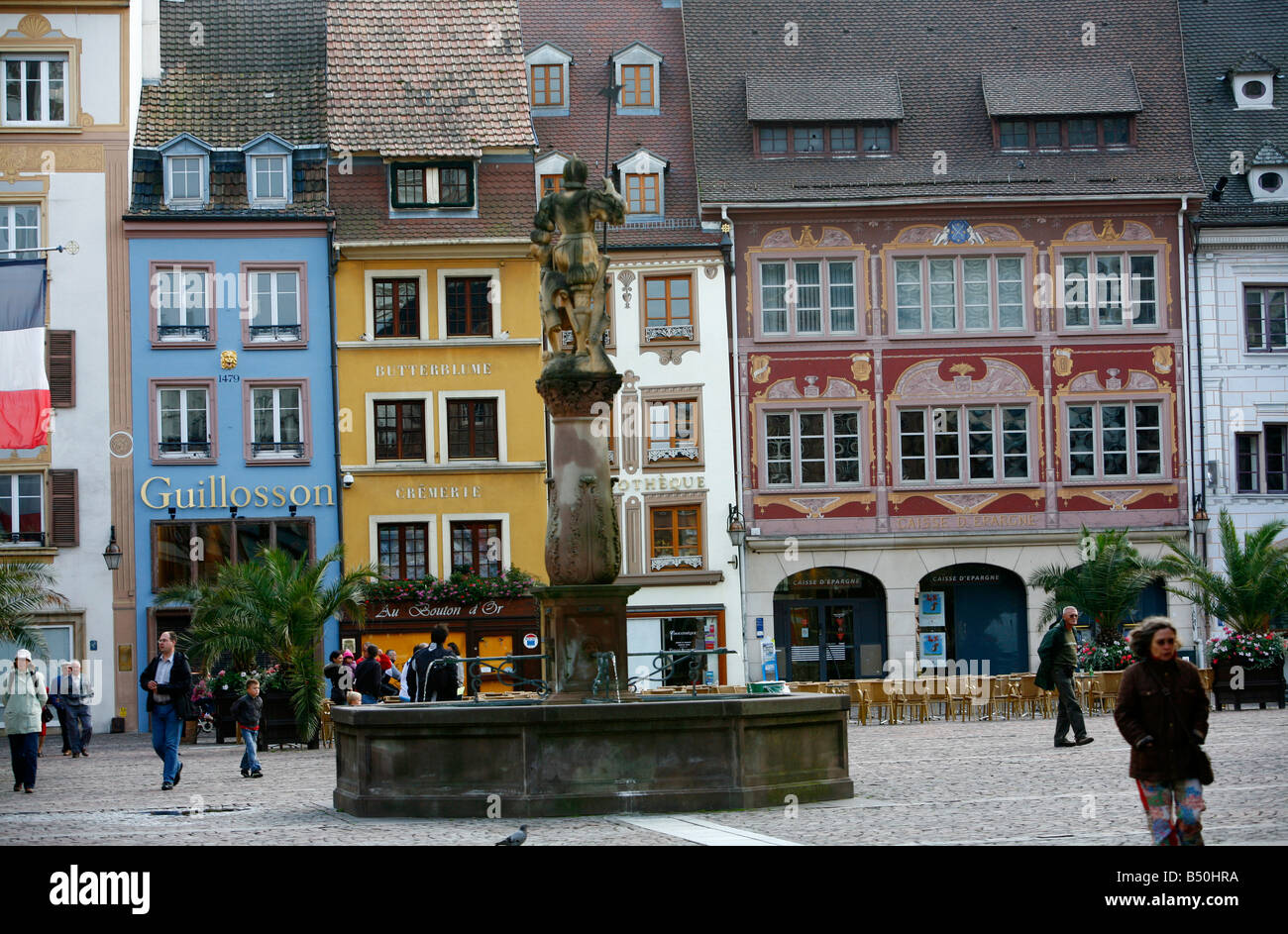 sep 2008 place de la reunion mulhouse alsace france stock photo royalty free image 20297630. Black Bedroom Furniture Sets. Home Design Ideas