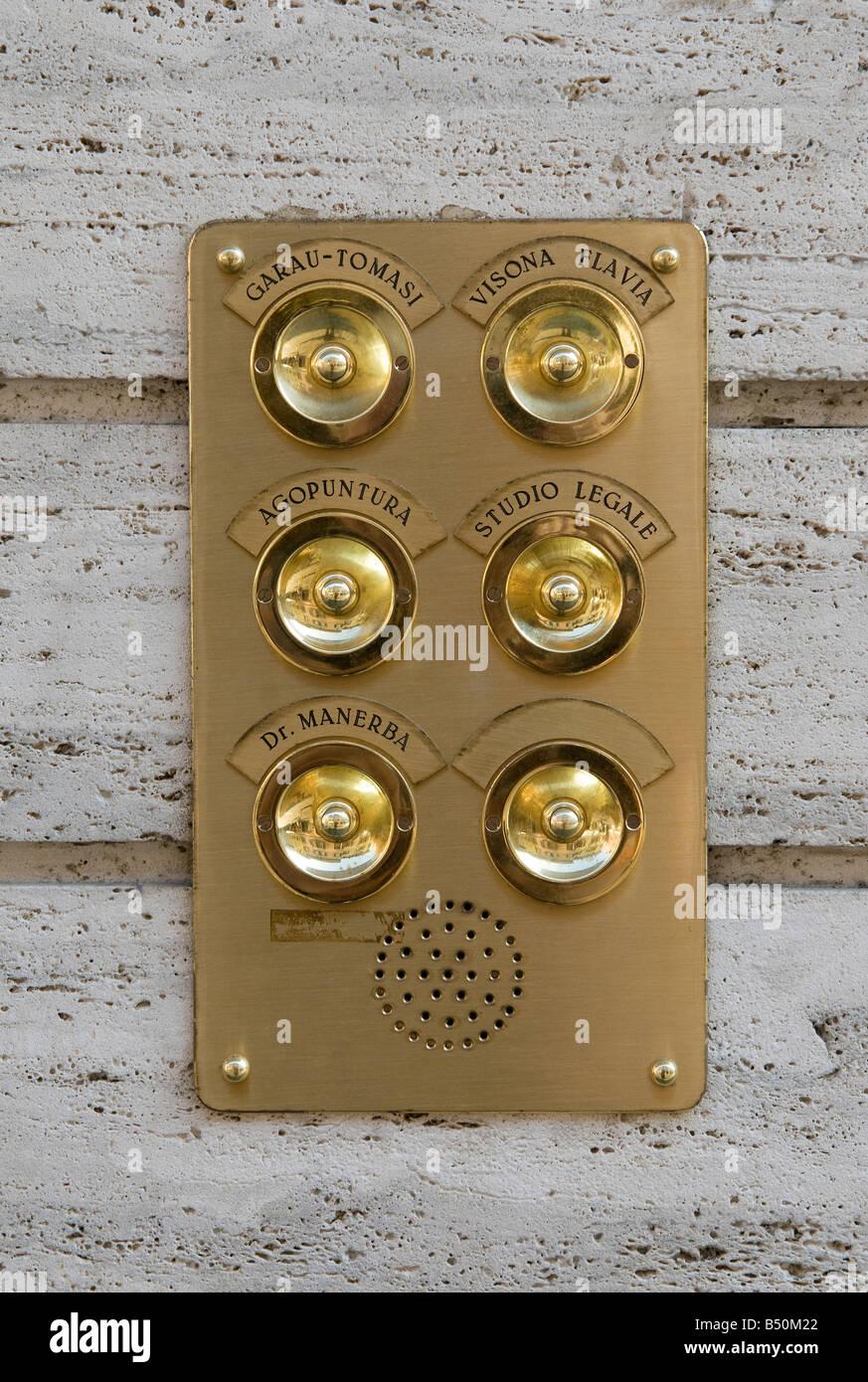 Brass Doorbell Plate, Lake Garda, Italy