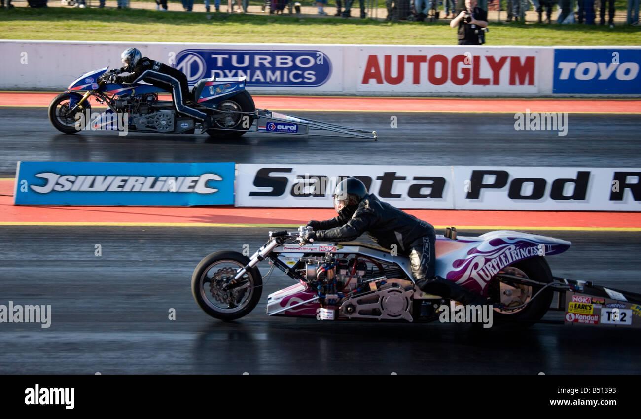 Top Fuel Bike Purple Princess Driven By Steve Carey Drag Racing At
