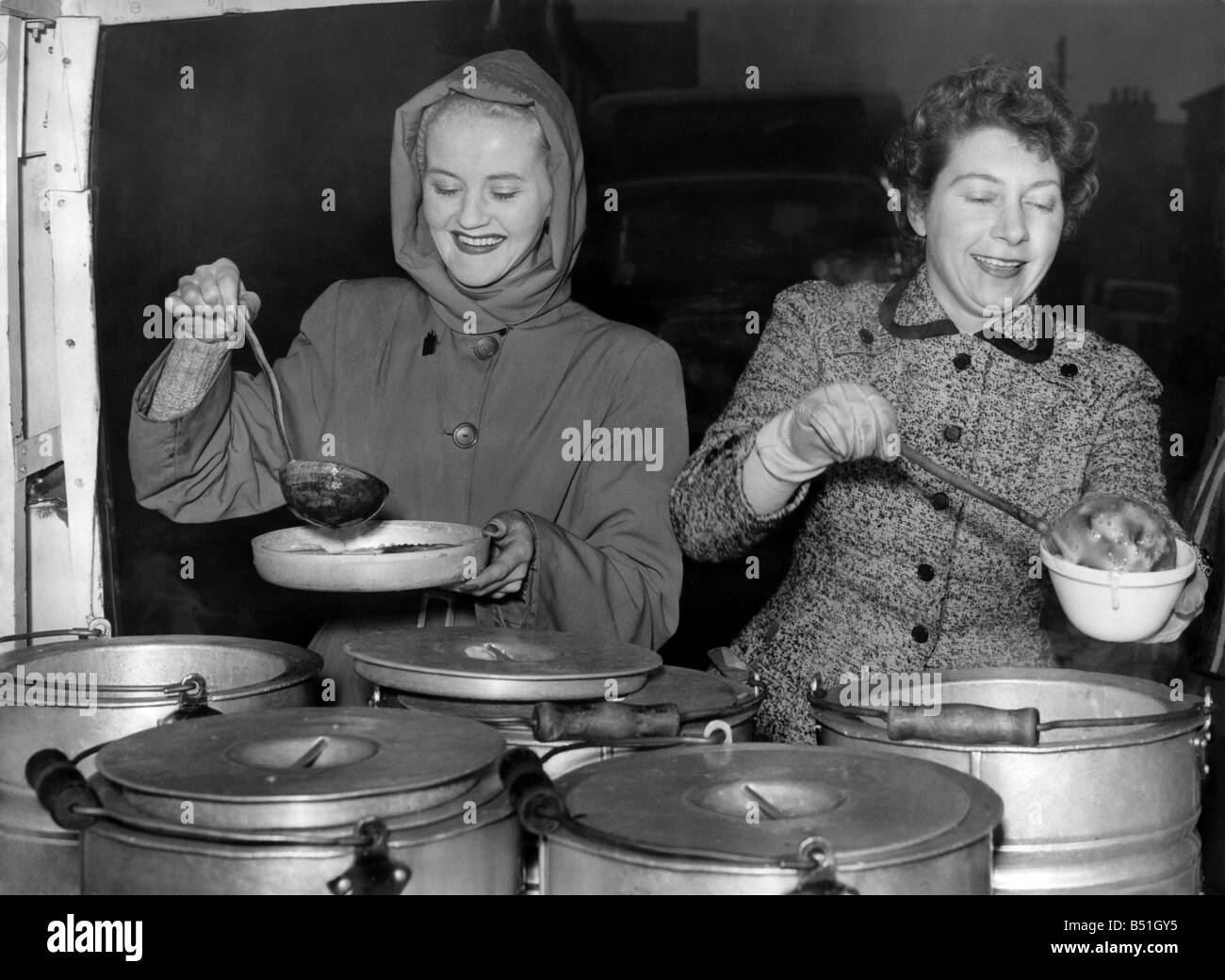 the soup kitchen women from the wrvs seen here serving hot stock
