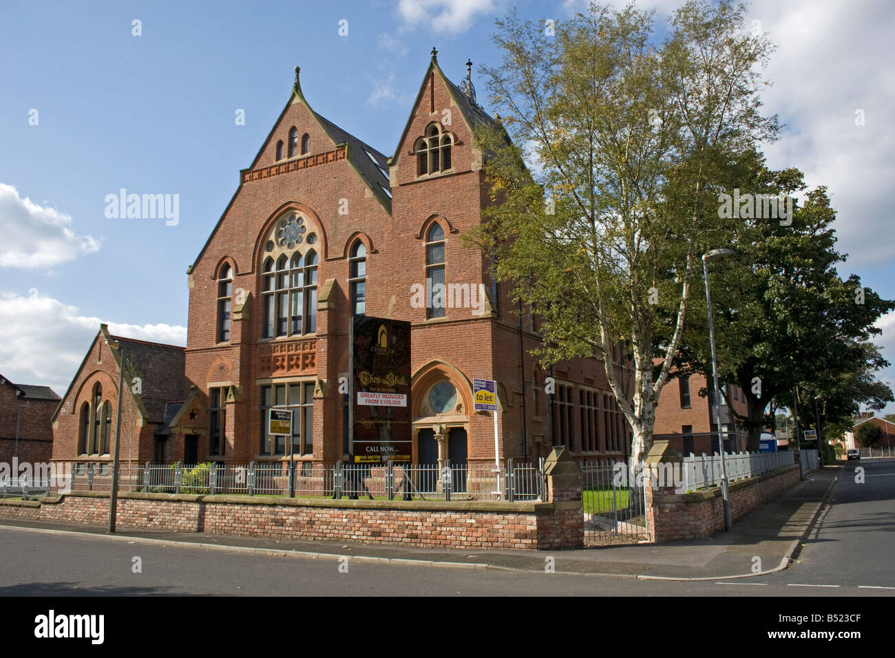 church conversion to apartments, prestwich, manchester, uk stock