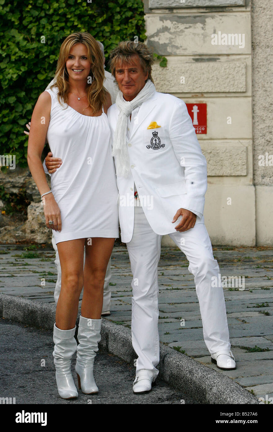 rod stewart and penny lancaster at a pre wedding party in