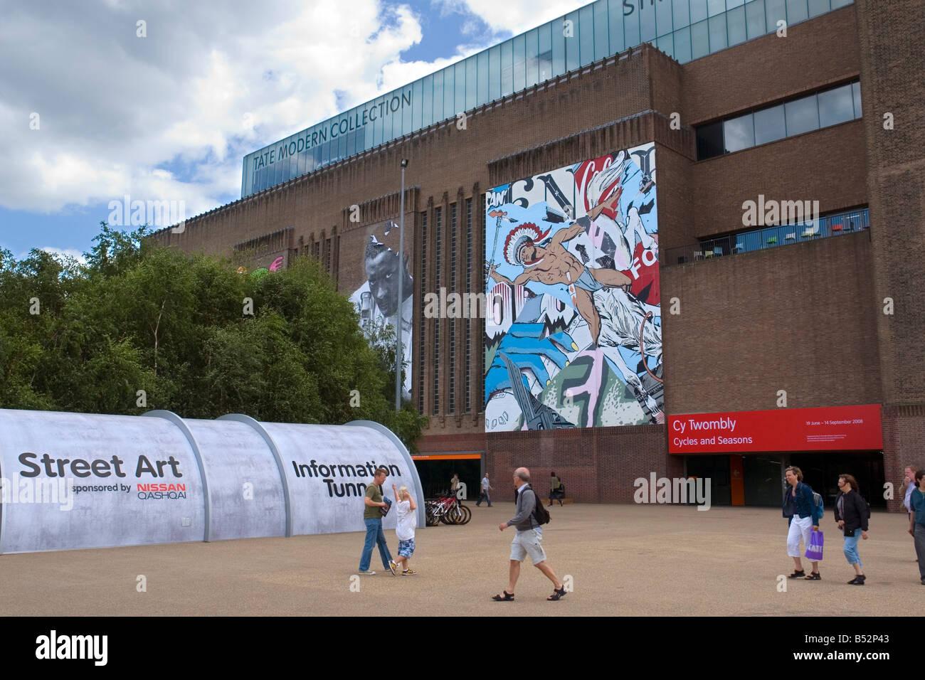Graffiti art information - Stock Photo Street Art Exhibition Graffiti Art Work Painted On The Tate Modern London Uk
