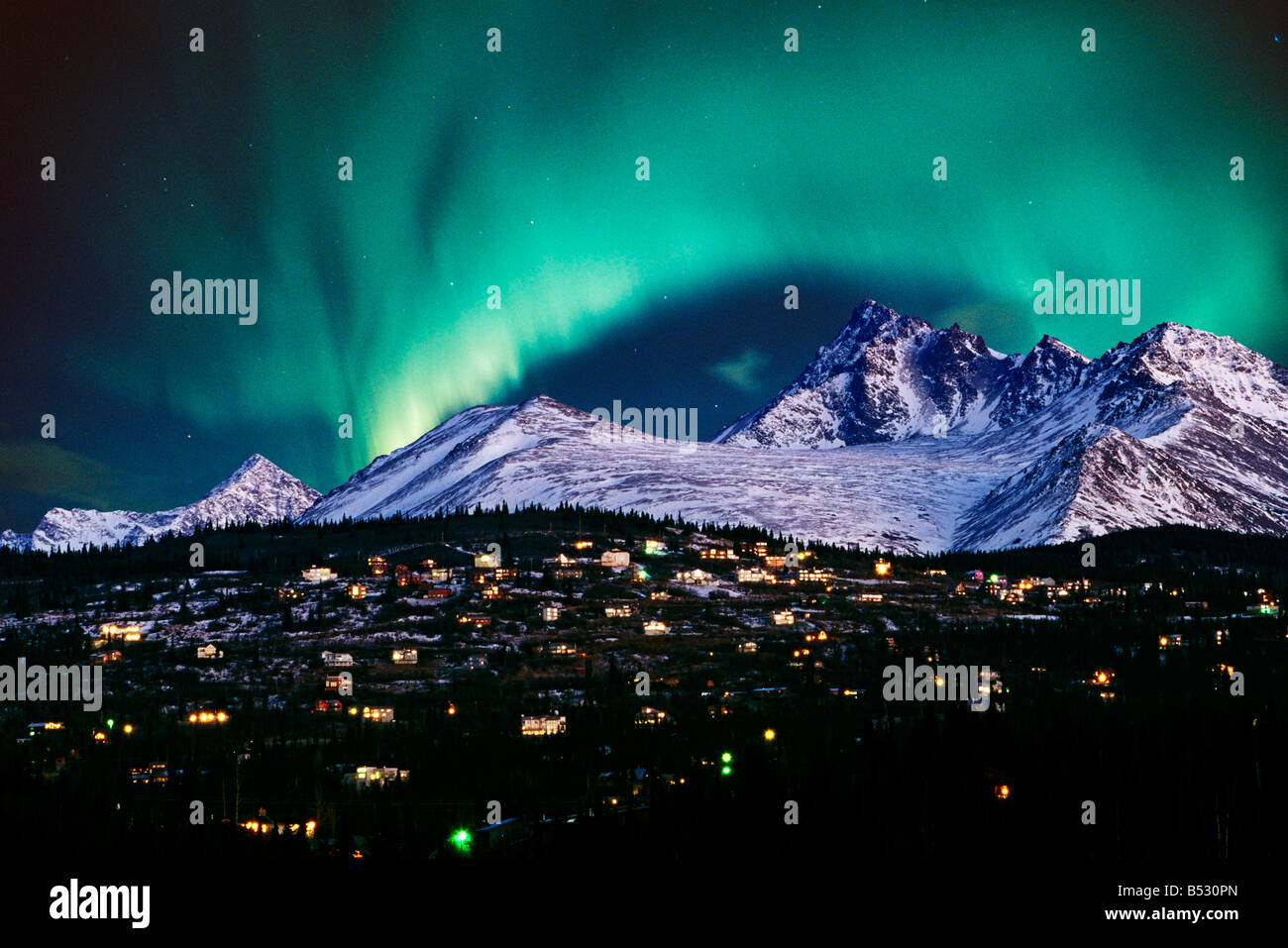 neighborhood chugach mountains anchorage alaska sc composite winter