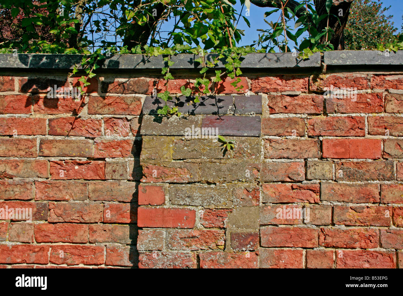 Old Garden Wall   Victorian And Weathered.
