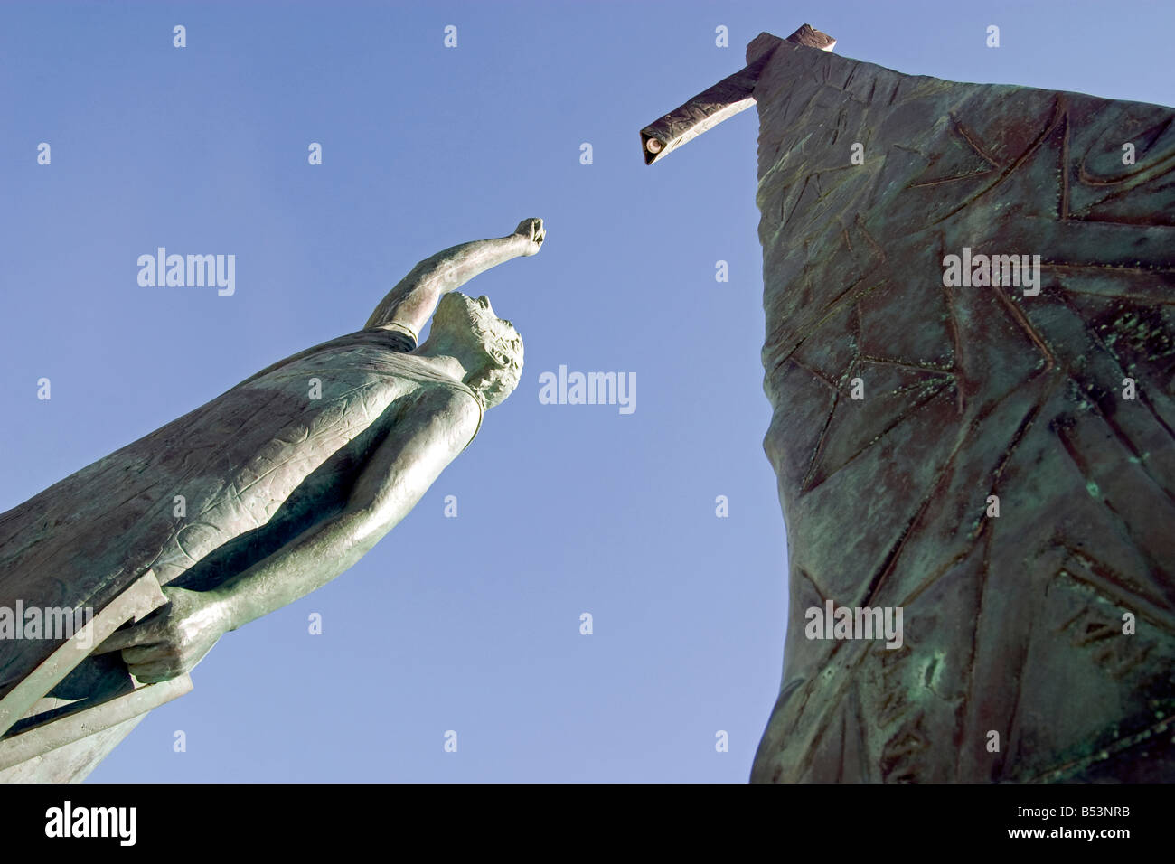 pythagorean stock photos pythagorean stock images  pythagoras statue samos stock image