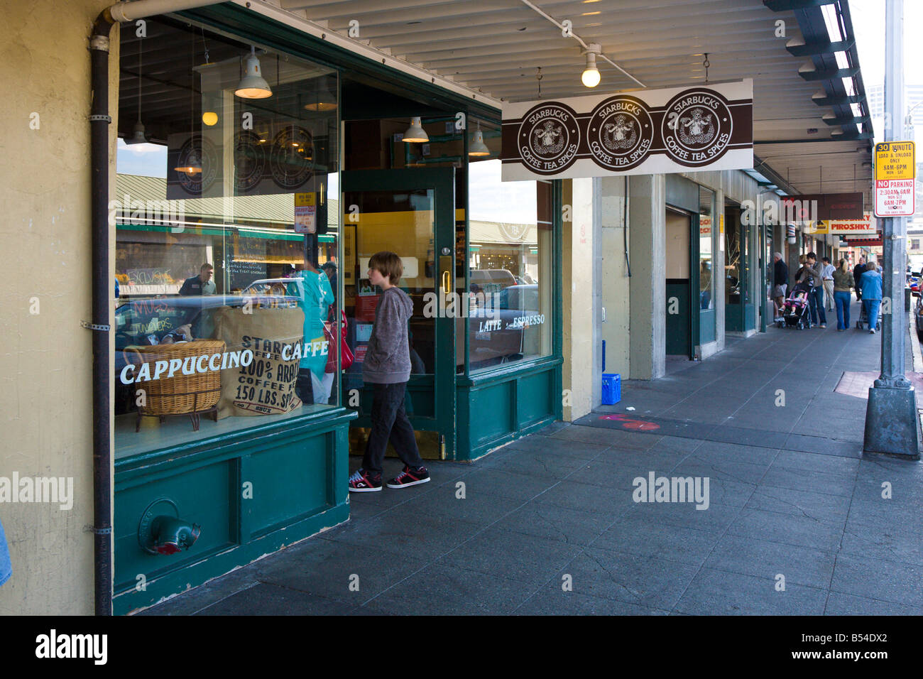first starbucks stock photos u0026 first starbucks stock images alamy