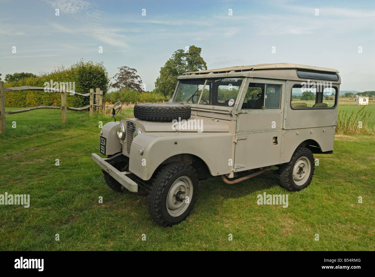 very original historic 1950s land rover series 1 88in station wagon stock photo royalty free. Black Bedroom Furniture Sets. Home Design Ideas
