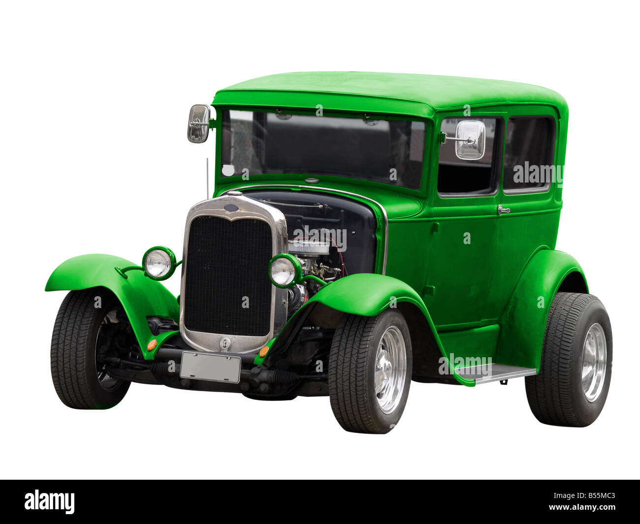 A Classic Car Isolated On A White Background Stock Photo Royalty