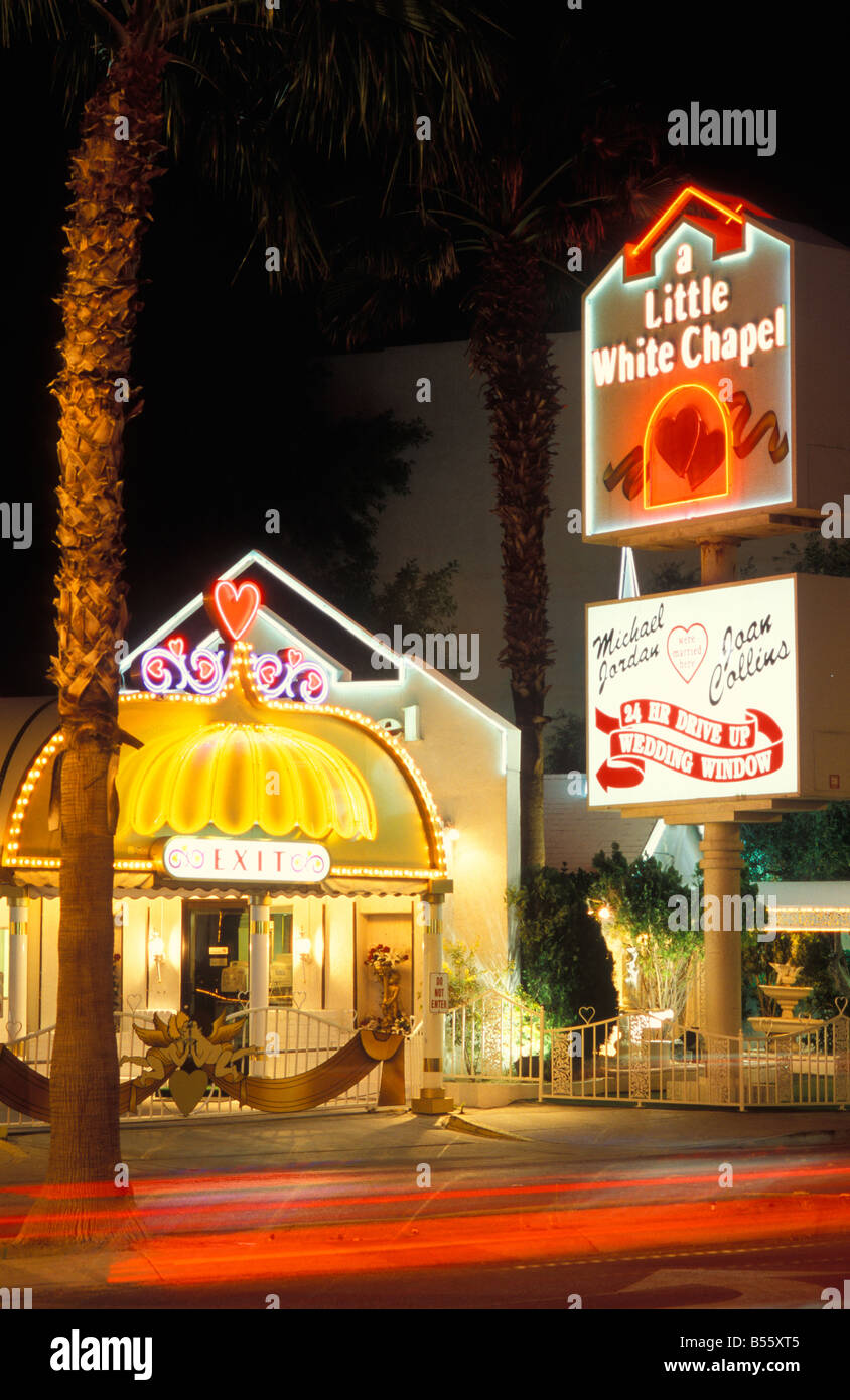 Wedding Chapel Little White With 24 Hours Service At Strip In Las Vegas Nevada USA