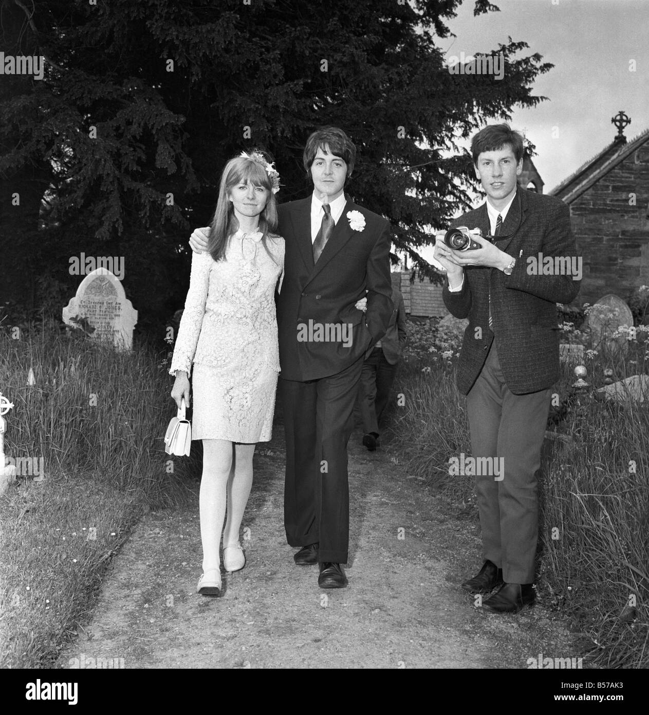 Mike McCartney's Wedding. ;Paul McCartney And Jane Asher