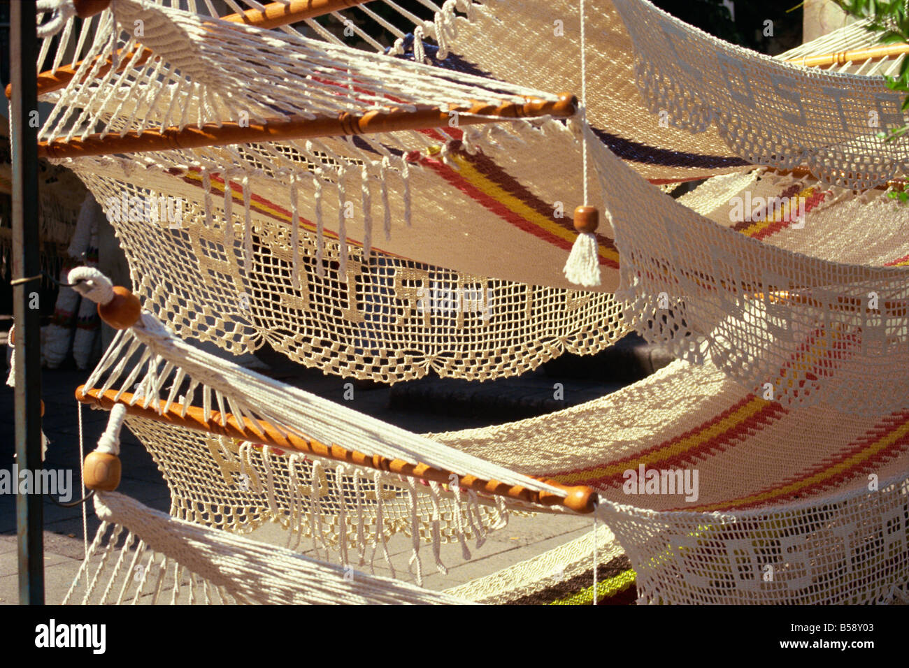 hammocks for sale in san jose costa rica central america hammocks for sale in san jose costa rica central america stock      rh   alamy