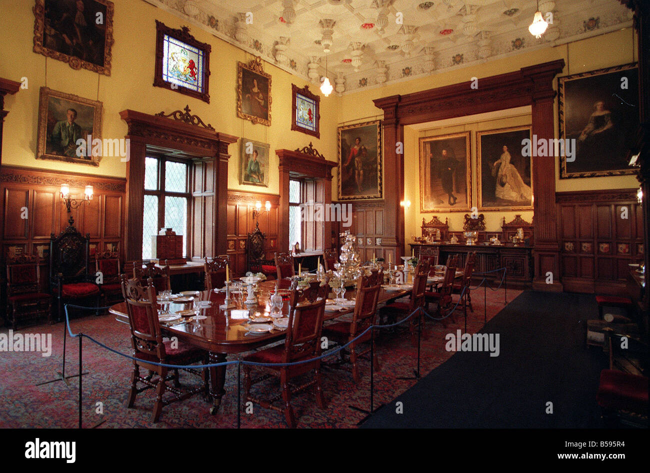Castle Dining Room The Dining Room In Glamis Castle Scotland Where The Queen